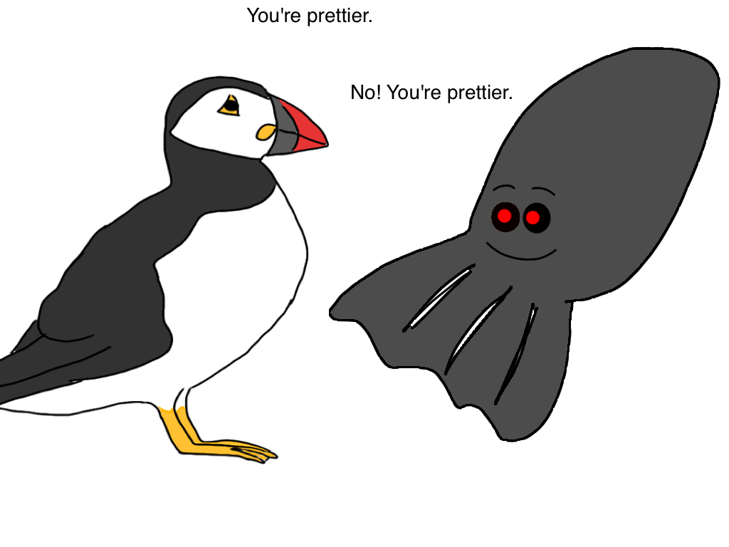 I'm sorry I didn't draw a puffin until just now (UPDATED)   this ...